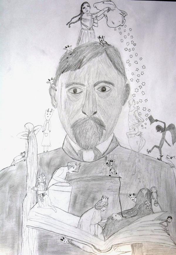 Otto Ubbelohde und Märchenfiguren von Liska
